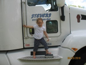 in front of truck