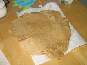 finished stack of tortillas