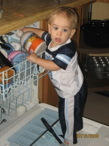 brant on the dishwasher